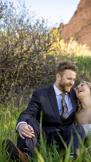 Elopement photography session at Garden of the Gods | Sam + Samantha