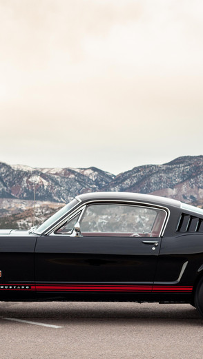 1965 Ford Mustang GT Fastback photoshoot in Colorado Springs