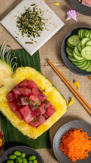 Photographing food for Poke House in San Jose