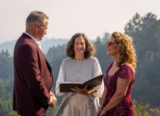 Photographed a wedding in Santa Cruz mountains