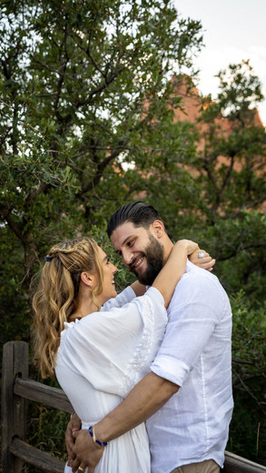 Hyaat + Fabio engagement session at Garden of The Gods   Colorado