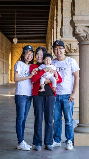 Family Photoshoot at Stanford University