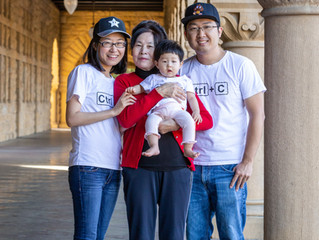Family Photoshoot at Stanford University