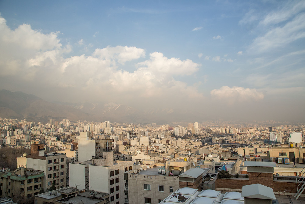 View of Tehran from our rooftop.