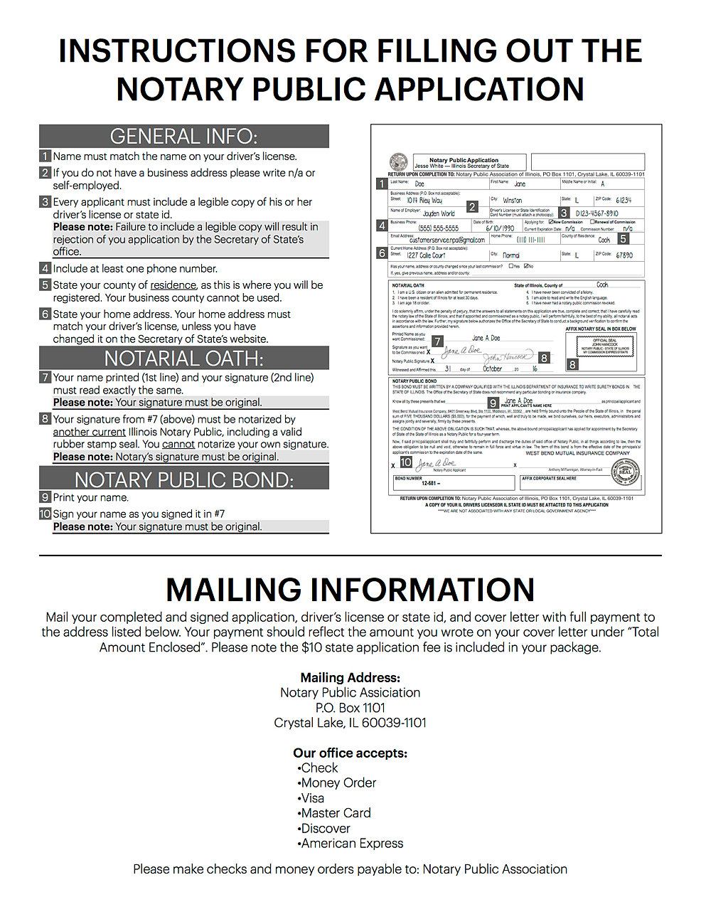 Download Illinois Notary Public Application Download Webmaster Login