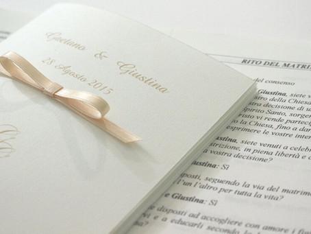 Libretto messa matrimonio: dalla progettazione alla stampa