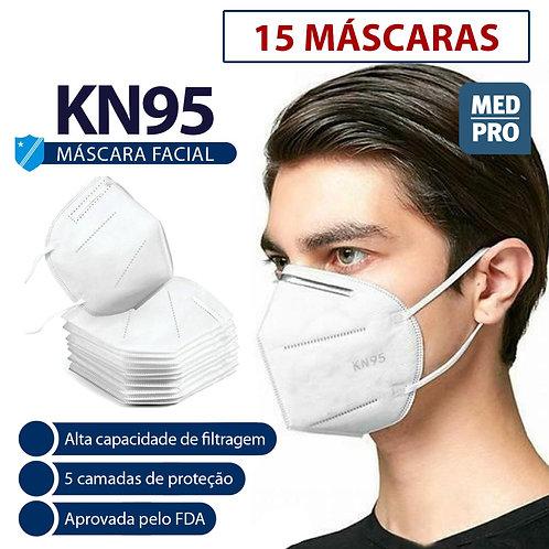 MÁSCARA FACIAL KN95 PFF2 - caixa com 15 máscaras (R$10,00/unid)