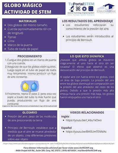 SPANISH BALLOON STEM ACTIVITY -COMPLETE.