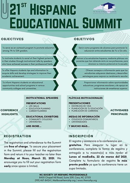 page 2 2021 Hispanic Educational Summit