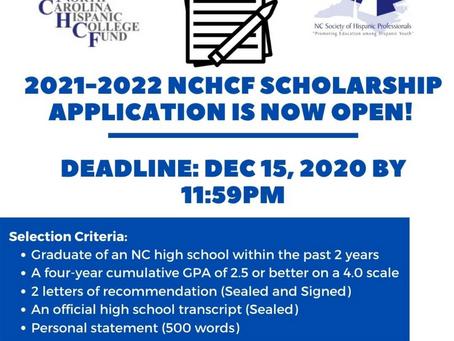 2021-2022 NCHCF SCHOLARSHIP