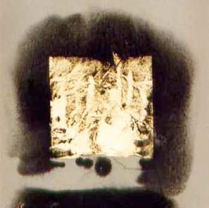 graphite powder, gold leaf, paper. 1993