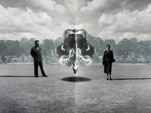 Ink blot cloud II in the Tuileries, Paris,