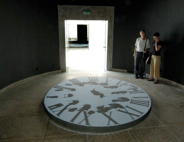 Projection of the Cobbler's Apprentice at the Hungarian Pavilion, 51st Venice Biennale, Venice, Italy, 2005