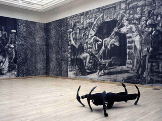 The Captain's Story as a site specific installation at the Kunsthalle, Budapest, Hungary, 1998