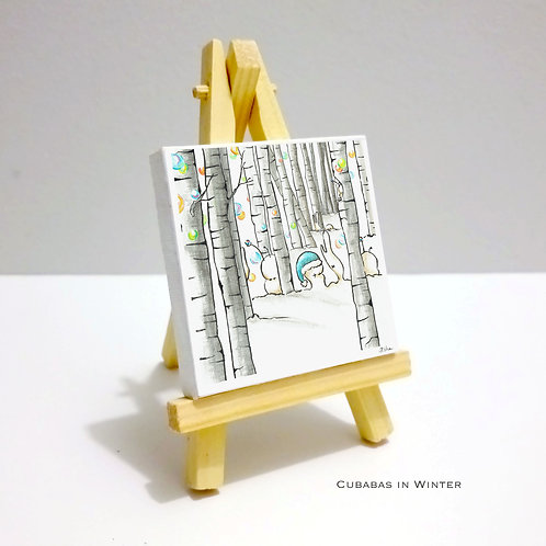 Cubabas in Winter - Mini Canvas