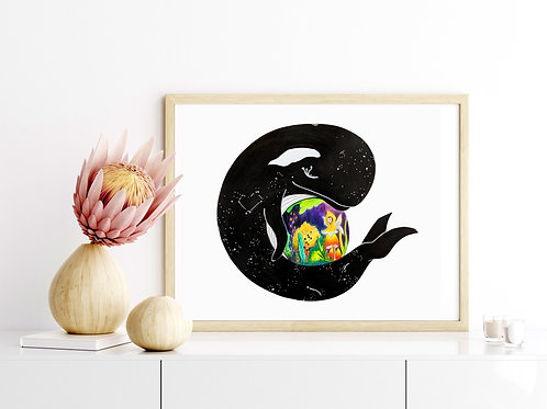 All Be Whale - 8x10 Art Print (limited)