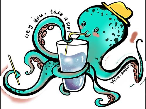 Uncle Octopus Vinyl Sticker
