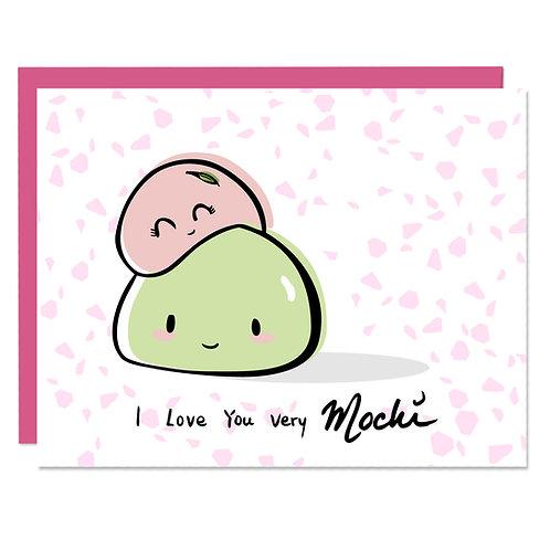 Love You Very Mochi - Card