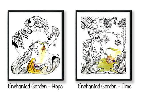 Set of Enchanted Garden - 8x10 Art Print