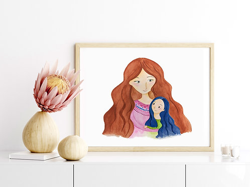 Like Mother Like Daughter - 8x10 Art Print