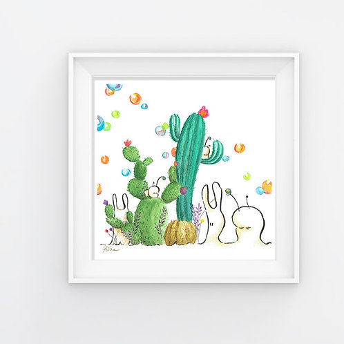 Cubabas in Summer - 8.5x8.5 Artprint
