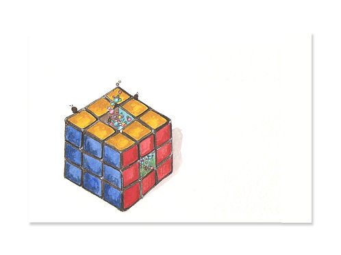 The Rubik's Cube - 5x7 Art Print