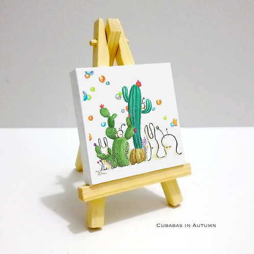 Cubabas in Summer - Mini Canvas