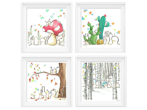 4 Seasons Series - 8.5x8.5 Art Print