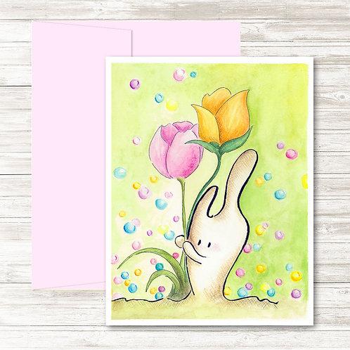 The Tulip Garden - Card