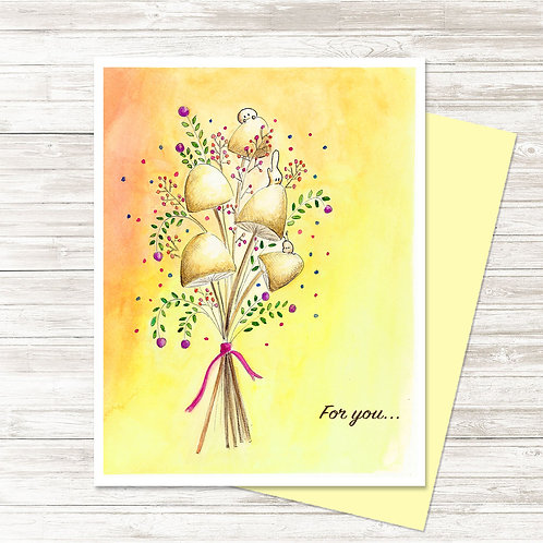Flowers Just For You - Card