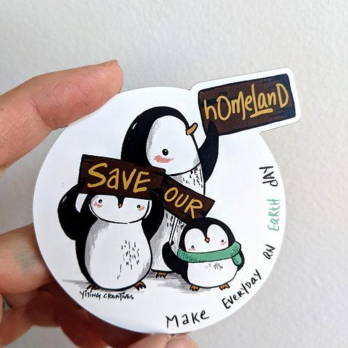 Penguins' Homeland Magnet