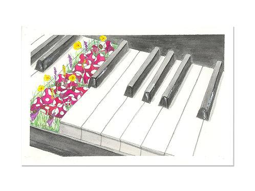 The Piano Garden 5x7 Art Print