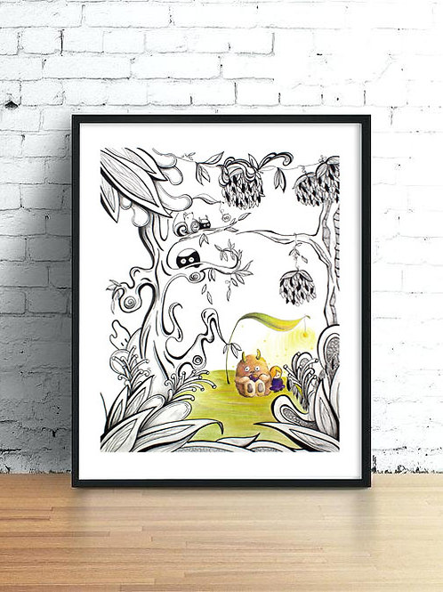 Enchanted Garden | Time - Art Print