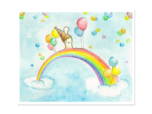 Rainbow Walk - 8x10 Art Print