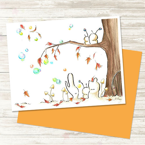 Cubabas in Autumn - Card