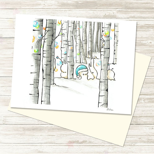 Cubabas in Winter - Card