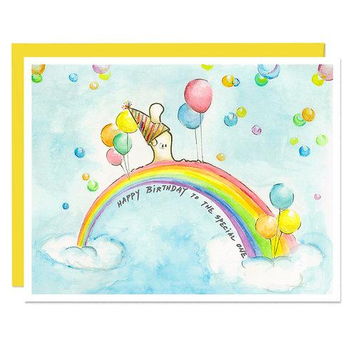 Birthday Rainbow Walk - Card