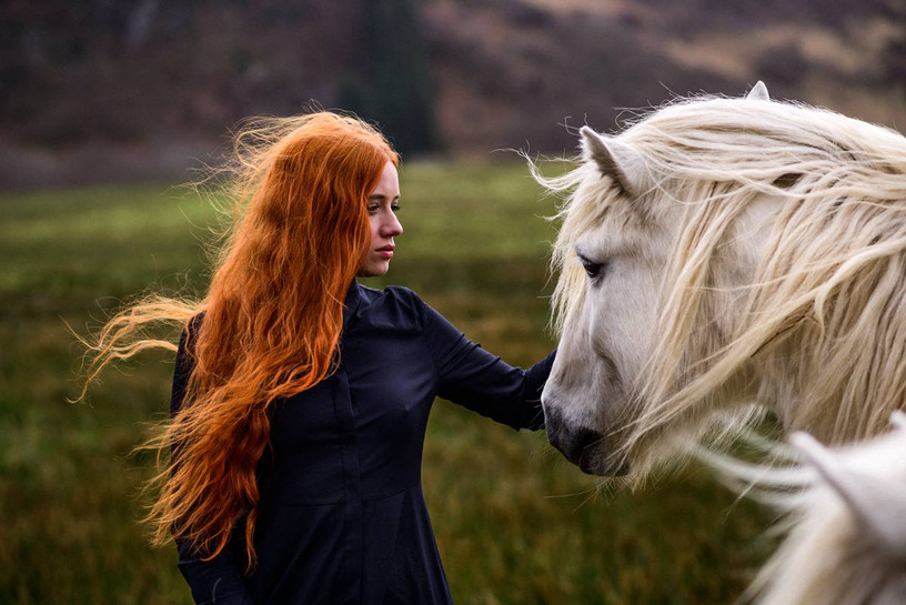 Horse in scotland with the beautiful Karole Bonnet