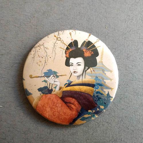 Chapa-Espejo Geisha Naranja