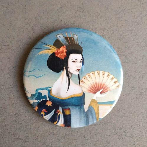 Chapa-Espejo Geisha Azul