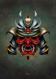 Máscara Samurai 2