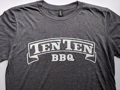 Distressed Ten Ten BBQ Logo Tee