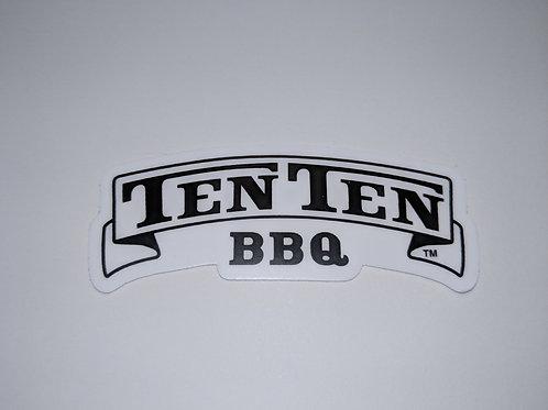 Ten Ten BBQ Logo Sticker