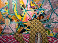 The Dream of Burnt Part Two.  Acrylic on canvas 120cmx150cm