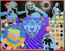 Welcome to The Apocalypse Club Acrylic on canvas 120cmx150cm