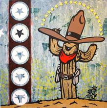 Cowboy Cactus  Acrylic on canvas 150cmx150cm