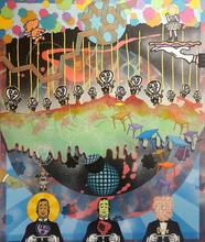 Standing on the Brink Acrylic on canvas 100cmx120cm