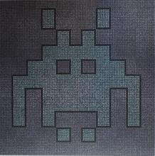 Space Invader Acrylic on canvas 100cmx100cm