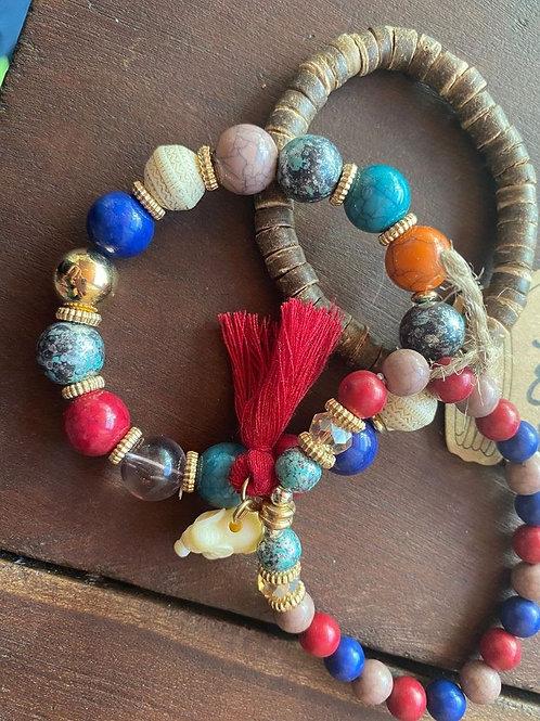 3pc Elephant Bracelets