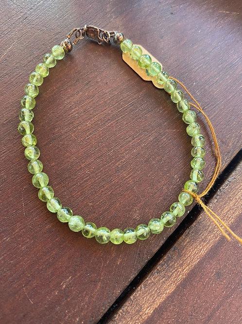 Lime Green Peridot Bracelet